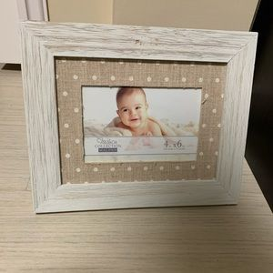 White rustic photo frame